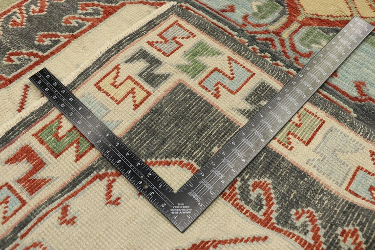 Wool New Contemporary Turkish Oushak Rug with Modern Tribal Boho Chic Style For Sale