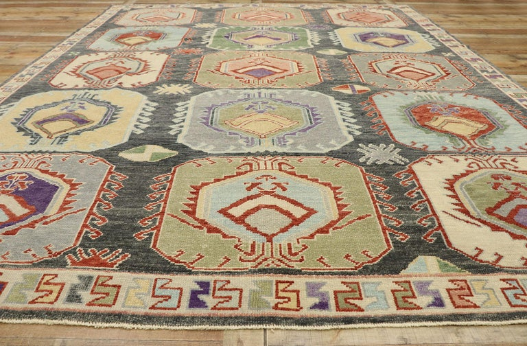 New Contemporary Turkish Oushak Rug with Modern Tribal Boho Chic Style For Sale 2