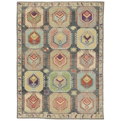 New Contemporary Turkish Oushak Rug with Modern Tribal Boho Chic Style