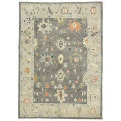 New Contemporary Turkish Oushak Rug with Modernist Style