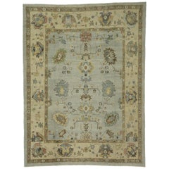 New Contemporary Turkish Oushak Rug with Transitional Style