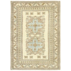 New Contemporary Turkish Rug with Caucasian Kazak Eagle Design and Modern Style