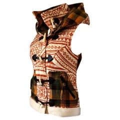 New Da-Nang Knit Wool Vest With Detachable Hood