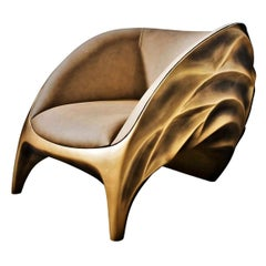 New Design Armchair in Pacific Leather