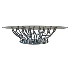New Design Bronze Glass Dining Table for 10/12 Persons