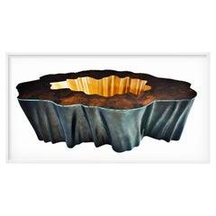 New Design Coffee Table in Wood Walnut Root Veneer