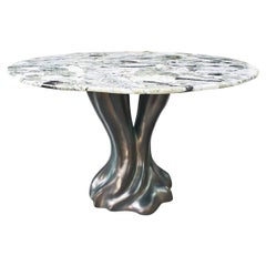 New Design Dining Table in Jade Marble 4/6 Persons