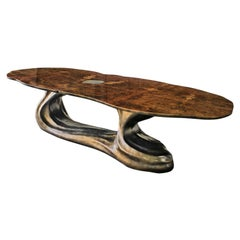 New Design Dining Table in Walnut Veneer for 10/12 Persons