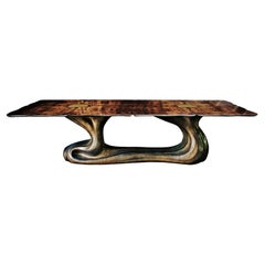 New Design Dining Table in Walnut Veneer for 10712 Persons