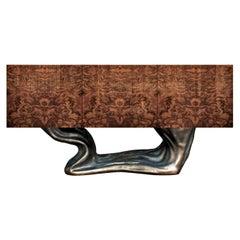 New Design Sideboard in Wood with Walnut Root Veneer