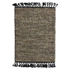 New Dhurrie Flat-Weave Kilim Rug with Modern Lake House Style, Custom Area Rug