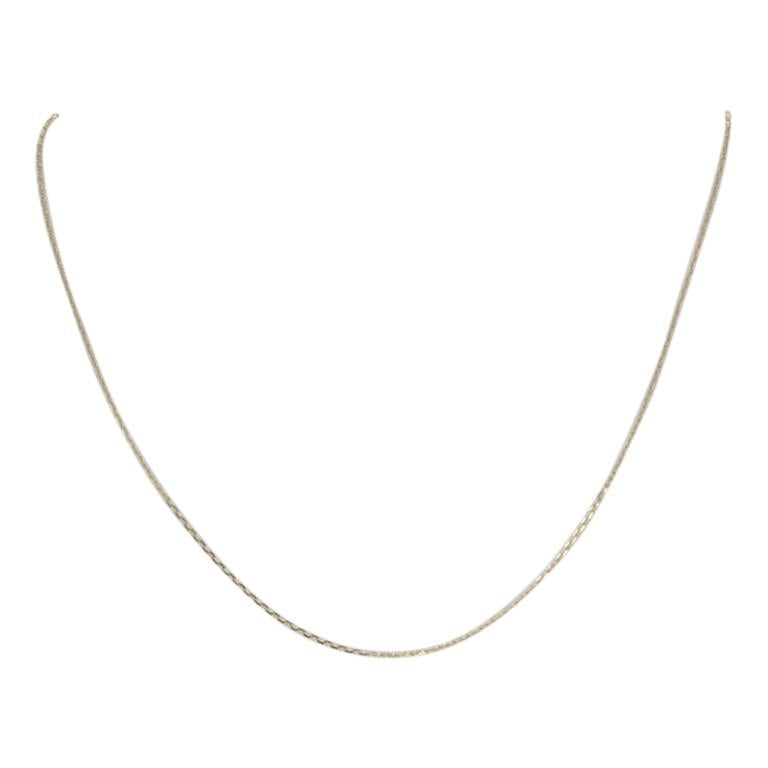 New Diamond Cut Cable Chain Necklace, 14k Yellow Gold, Italian