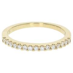 Diamond Wedding Band, 18 Karat Yellow Gold Ring Round Cut .20 Carat