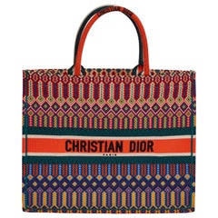 New Dior Limited Edition Orange Book Tote Bag