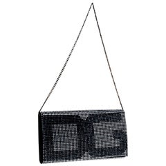 NEW Dolce & Gabbana Crystallized Silk Crystal Evening Bag Clutch