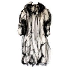 NEW Dolce & Gabbana Demi-Couture Evening Tulle Alpaca Fur Coat