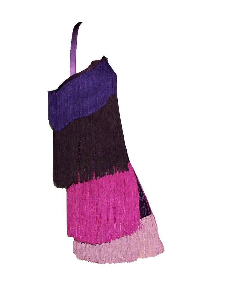 Black NEW Dolce & Gabbana Fringe & Lace Flapper Cocktail Dress  For Sale