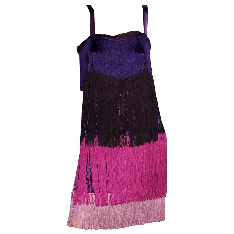 NEW Dolce & Gabbana Fringe & Lace Flapper Cocktail Dress  For Sale