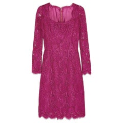 NEW Dolce & Gabbana Guipure Floral Lace Dress sz IT44 US 4-6