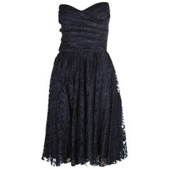 NEW Dolce & Gabbana Strapless Black Corset Bustier Lace Cocktail Dress