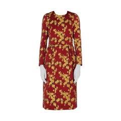 New DRIES VAN NOTEN 'Dior' Floral Jacquard Dress FR36 US 4