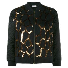 New DRIES VAN NOTEN 'Hoezze' Sequin Zip up Jacket sz S