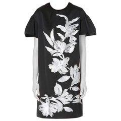 New DRIES VAN NOTEN Runway Deolas Floral Motif Crepe Dress FR40 US 8