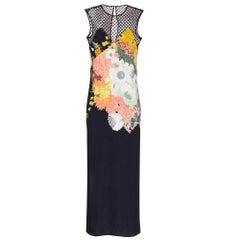 New DRIES VAN NOTEN Runway 'Dorsey' Sleeveless Floral Print Crepe Dres FR42 US10