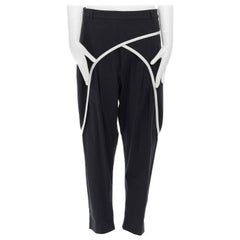 """new DRIES VAN NOTEN SS15 crossover piping drop crotched trouser pants FR42 36"""""""