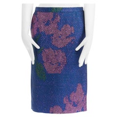 new DRIES VAN NOTEN SS16 navy blue pink wing sequins embellished gown dress FR36