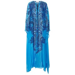 NEW Emilio Pucci by Peter Dundas Lace-Up Eyelet Embroidered Maxi Kaftan Dress