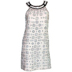 NEW Emilio Pucci Embroidered Cocktail Evening Dress Fully Beaded