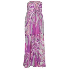 NEW Emilio Pucci Signature Print Cover Up Dress Maxi Skirt