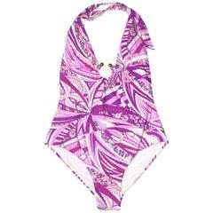 NEW Emilio Pucci Signature Print One-Piece Swimsuit Swimwear