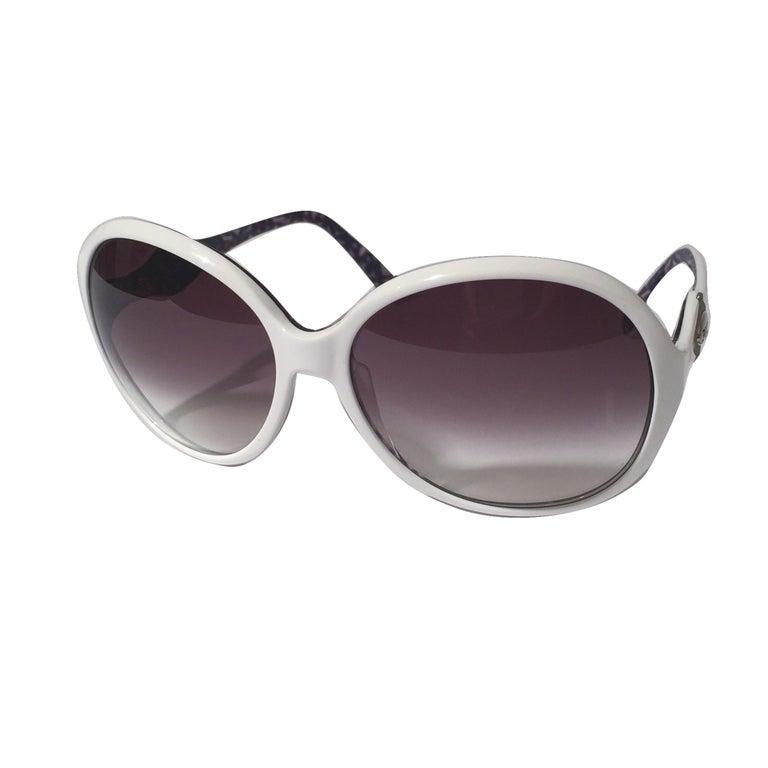 New Emilio Pucci White Logo Sunglasses  With Case & Box 6