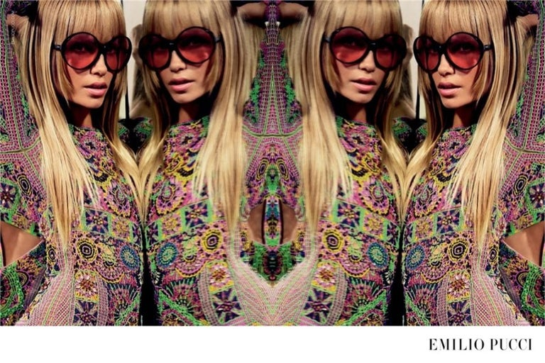 New Emilio Pucci White Logo Sunglasses  With Case & Box 7