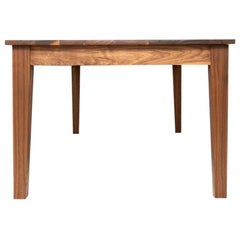 New England Farm Table, Shaker-Modern Dining Table in Walnut