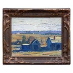 New England Impressionist Landscape Painting by John Wolcott, circa 1920s