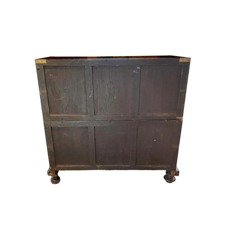 Hand-Painted New England Painted Blanket Chest For Sale