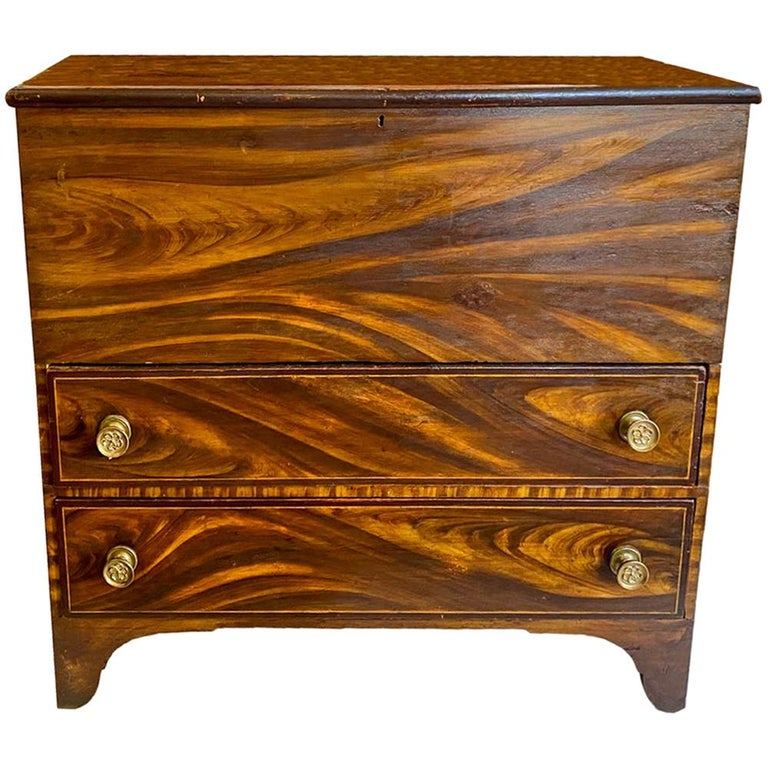 New England Painted Blanket Chest For Sale