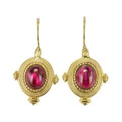 New Etruscan Style Vermeil Drop Earrings