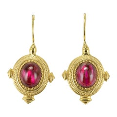 New Etruscan Style Vermeil Drop Earrings