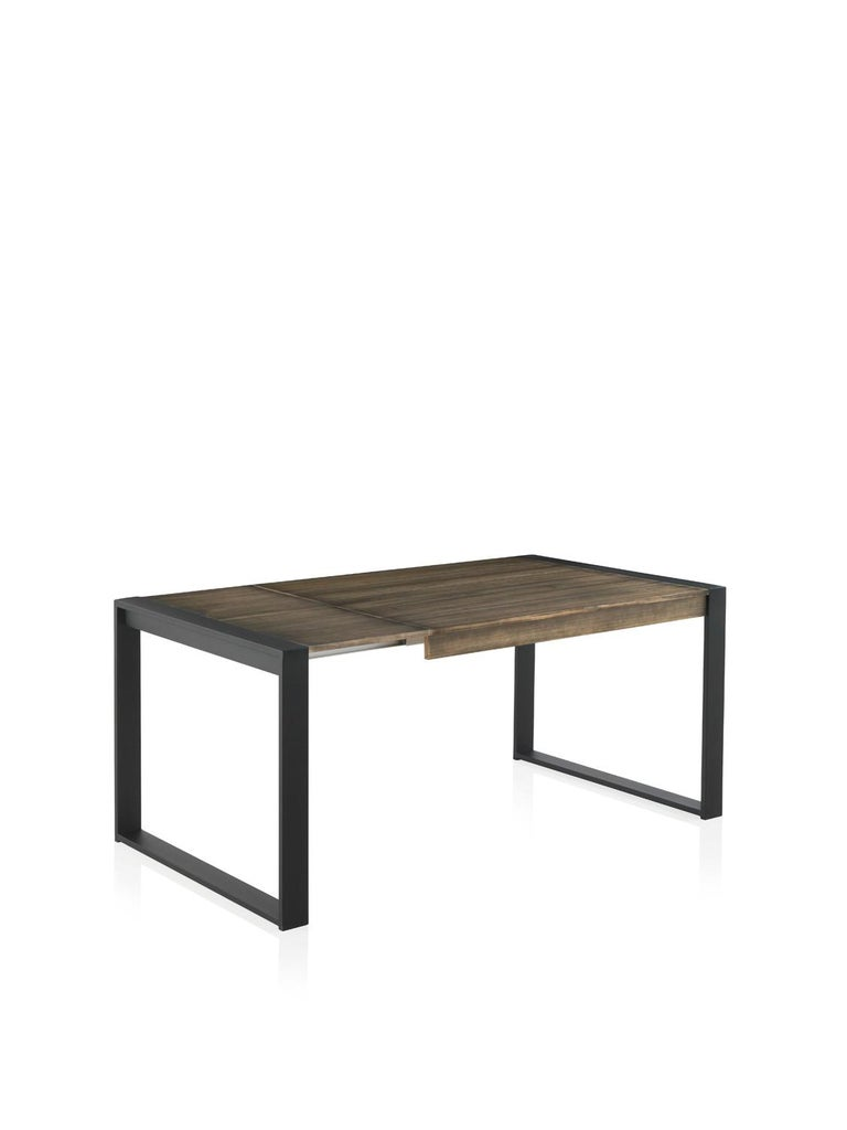Modern New Extendable Dining Table for Indoor and Outdoor with Wood Top For Sale