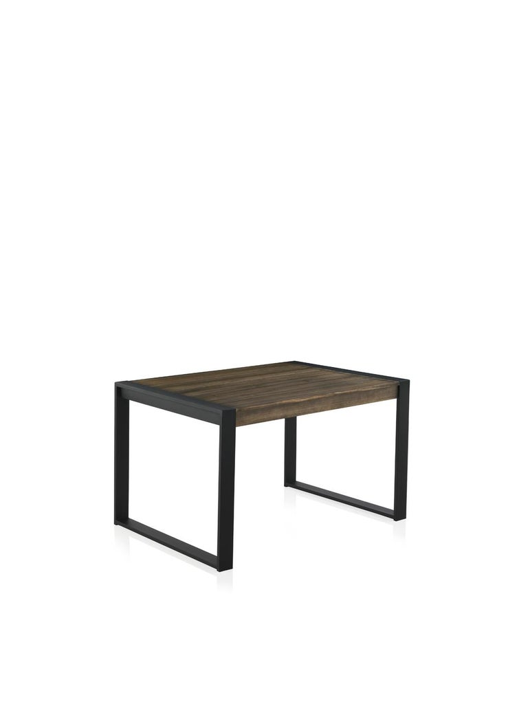 Modern New Extendable Dinning Table for Indoor and Outdoor with Wood Top For Sale