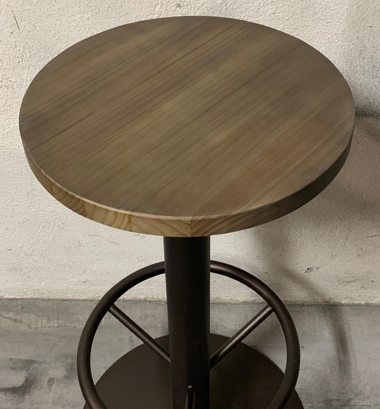 Spanish New Extendable Dining Table for Indoor and Outdoor with Wood Top For Sale