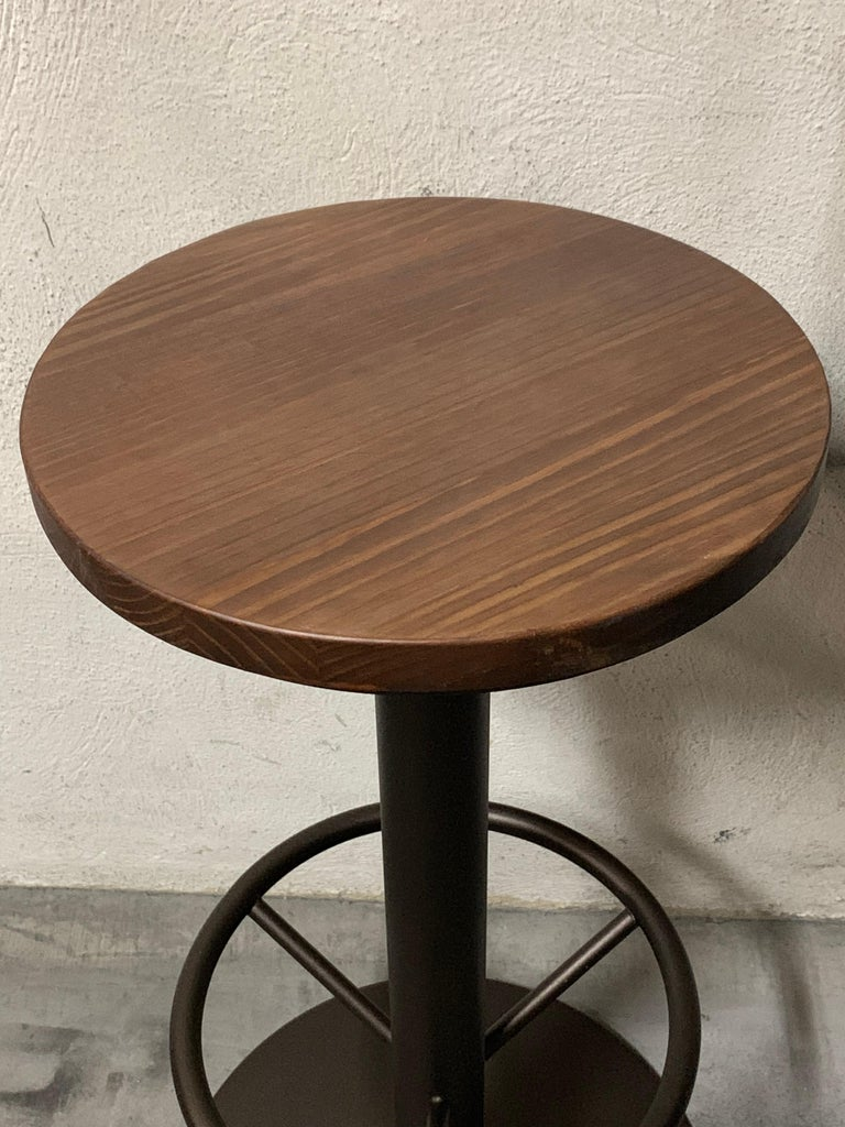 Contemporary New Extendable Dining Table for Indoor and Outdoor with Wood Top For Sale
