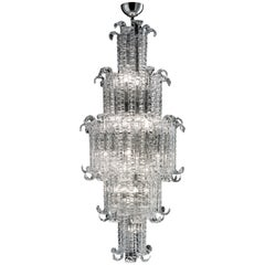 New Felci 7243 Suspension Lamp in Crystal Glass, by Barovier&Toso