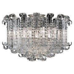 New Felci 7245 Ceiling Lamp in Crystal Glass, by Barovier&Toso