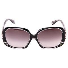 New Fendi Black Rose Inlaid Sunglasses with Case