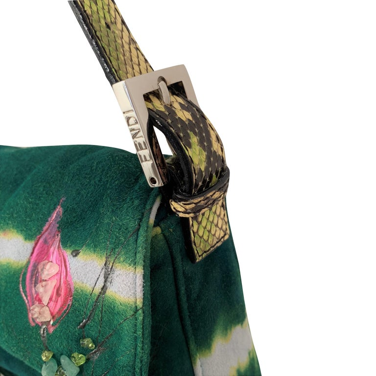 New Fendi Hand Painted Python Bag Featured in the 15th Anniversary Baguette Book 5